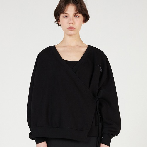 MG0S WRAP CARDIGAN MTM (BLACK)