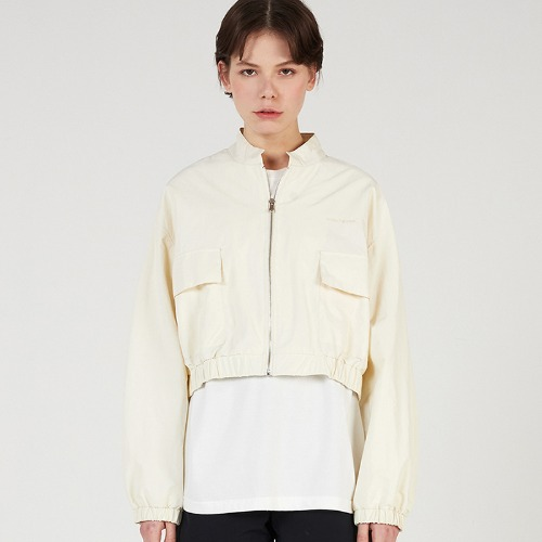 MG0S NYLON CROP JUMPER (CREAM)