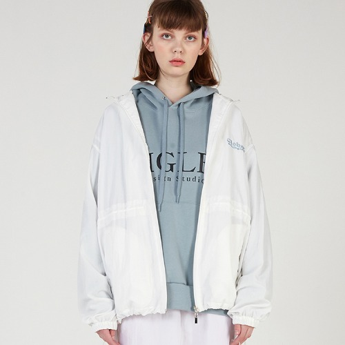 MG0S OVERSIZE STRING NYLON JUMPER (IVORY)